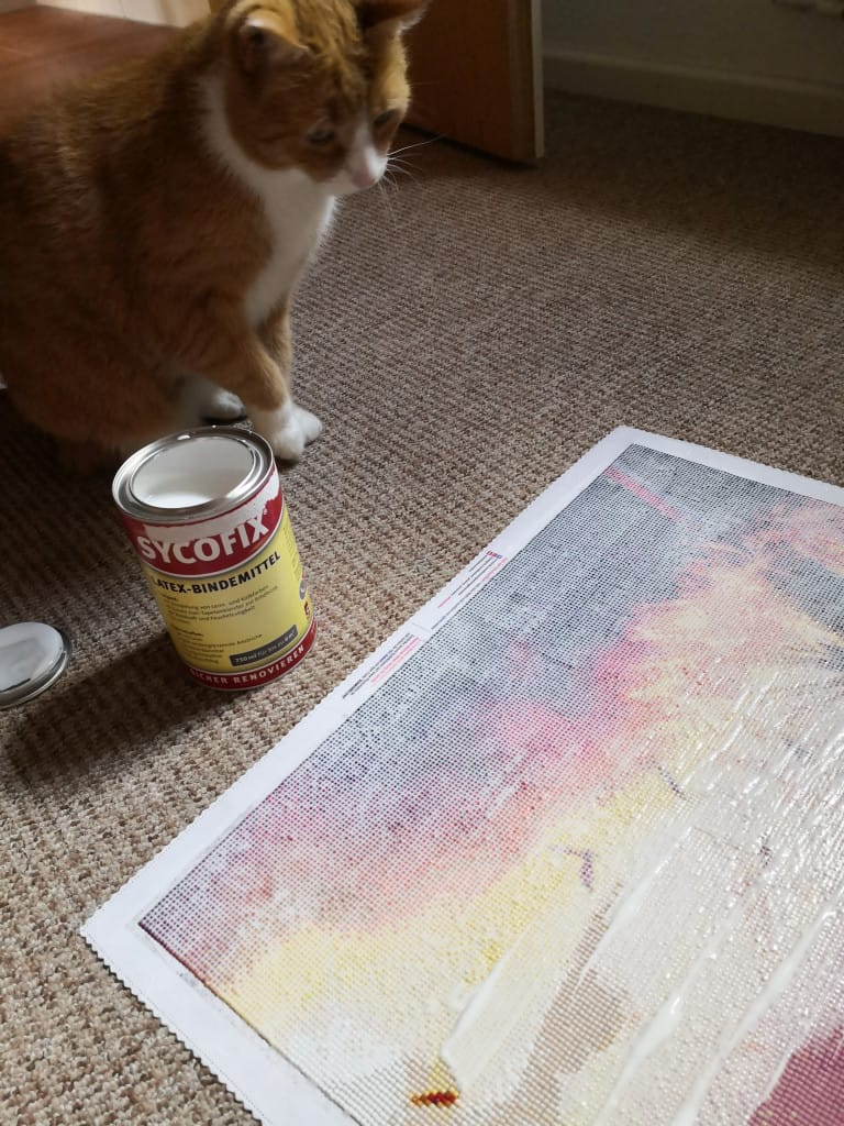 Painting beim Versiegeln mit Henry